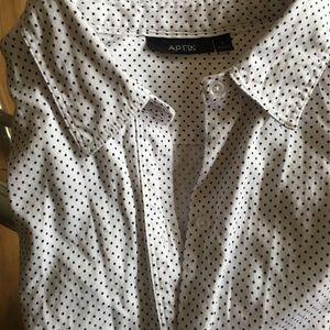 Women's cotton bottom down shirt size L